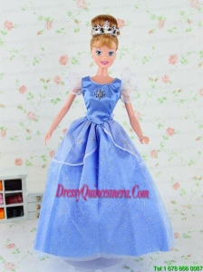 Pretty Tulle Party Dress for Blue Noble Barbie Doll