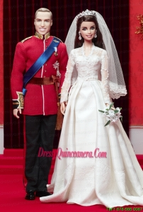 A Line Wedding Dress To Barbie Doll With Lace