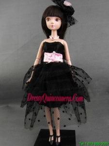 New Beautiful Black Party Dress for Tulle Noble Barbie