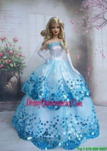 Pretty Sequin Over Skirt Made To Fit the Barbie Doll