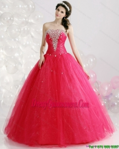 Unique Strapless 2015 Quinceanera Gowns with Rhinestones