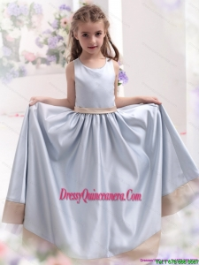 Silver Scoop 2015 Affordable Little Girl Pageant Dress with Waistband