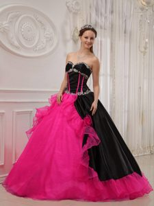 Ball Gown Sweetheart Quinceanera Dress in Satin and Organza on Sale