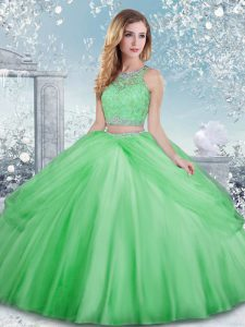Captivating Sleeveless Beading and Lace Floor Length Ball Gown Prom Dress