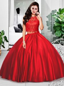 Beautiful Wine Red Sleeveless Taffeta Zipper 15 Quinceanera Dress for Military Ball and Sweet 16 and Quinceanera