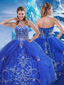Pretty Sleeveless Beading and Appliques Lace Up Sweet 16 Quinceanera Dress