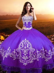 Fantastic Floor Length Purple Quinceanera Dress Sweetheart Sleeveless Lace Up