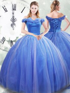 Sleeveless Brush Train Pick Ups Lace Up Quinceanera Gowns