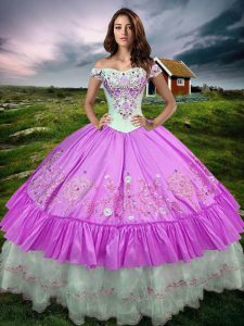 Romantic Floor Length Ball Gowns Sleeveless Lilac Sweet 16 Quinceanera Dress Lace Up
