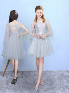 Half Sleeves Lace Lace Up Dama Dress