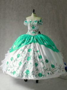 Multi-color Cap Sleeves Embroidery and Ruffles Floor Length Sweet 16 Dress
