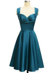Charming Teal Straps Lace Up Ruching Quinceanera Court Dresses Sleeveless