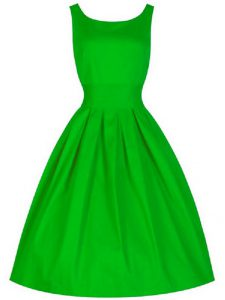 Ruching Quinceanera Court Dresses Green Lace Up Sleeveless Knee Length