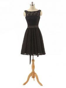 Lace Sleeveless Mini Length Damas Dress and Lace and Belt