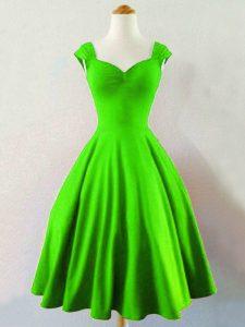 Gorgeous Knee Length Court Dresses for Sweet 16 Taffeta Sleeveless Ruching