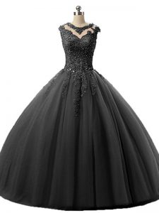 Stylish Sleeveless Beading and Lace Lace Up 15 Quinceanera Dress