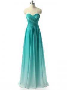 High Class Multi-color Sleeveless Chiffon Zipper Dama Dress for Quinceanera for Prom and Party and Wedding Party