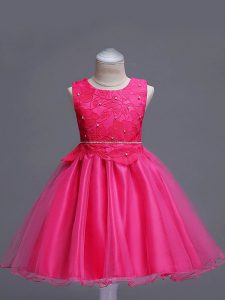 Adorable Sleeveless Lace Zipper Child Pageant Dress