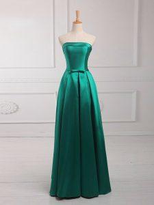 Best Satin Sleeveless Floor Length Damas Dress and Belt