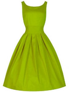 Custom Made Olive Green Sleeveless Taffeta Lace Up Vestidos de Damas for Prom and Party and Wedding Party