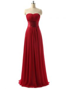 Lovely Sleeveless Ruching Lace Up Damas Dress