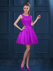 Admirable Sleeveless Lace and Ruffled Layers Zipper Dama Dress for Quinceanera