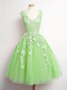 Sleeveless Lace Lace Up Quinceanera Dama Dress
