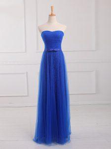 Fashion Sleeveless Belt Lace Up Quinceanera Dama Dress