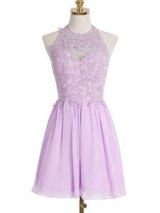 Ideal Sleeveless Appliques Lace Up Vestidos de Damas