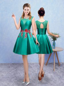 Sleeveless Embroidery Lace Up Court Dresses for Sweet 16