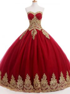 Wine Red Organza and Taffeta and Chiffon Lace Up Sweet 16 Dress Sleeveless Floor Length Ruffles and Sequins