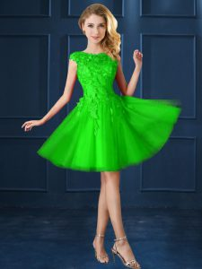 Inexpensive Court Dresses for Sweet 16 Prom and Party with Lace and Belt Bateau Cap Sleeves Lace Up