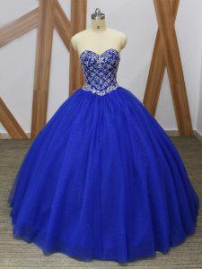 Admirable Sweetheart Sleeveless Tulle Sweet 16 Dresses Beading Lace Up