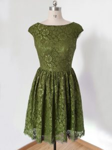Olive Green 3 4 Length Sleeve Lace Lace Up Quinceanera Court of Honor Dress for Prom and Party and Wedding Party