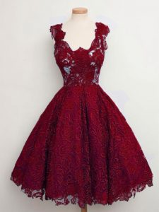 Straps Sleeveless Lace Quinceanera Dama Dress Lace Lace Up