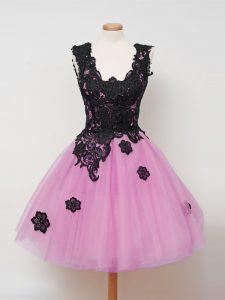 Sleeveless Lace Zipper Quinceanera Court of Honor Dress