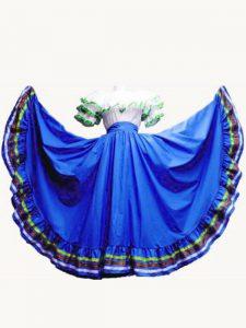 Enchanting Royal Blue Lace Up Off The Shoulder Ruffled Layers Vestidos de Quinceanera Taffeta Short Sleeves