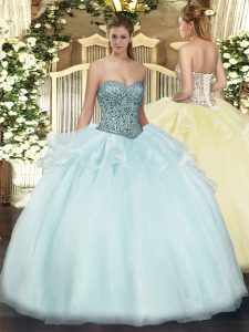 Wonderful Floor Length Ball Gowns Sleeveless Apple Green Ball Gown Prom Dress Lace Up