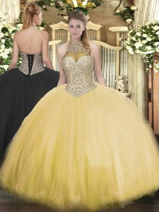 Artistic Sleeveless Beading Lace Up Vestidos de Quinceanera
