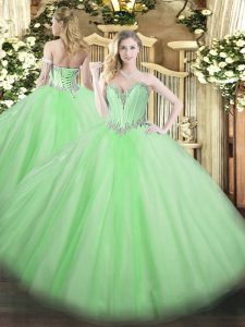 Sweetheart Neckline Beading Vestidos de Quinceanera Sleeveless Lace Up