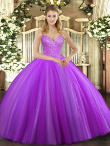Sleeveless Beading Lace Up Sweet 16 Dress