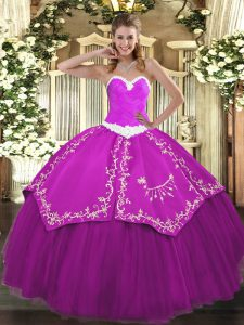 High End Organza and Taffeta Sleeveless Floor Length Sweet 16 Dress and Appliques and Embroidery
