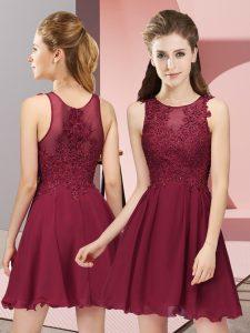 Edgy Sleeveless Zipper Mini Length Appliques Court Dresses for Sweet 16
