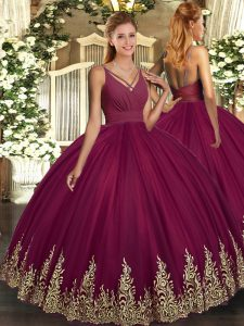 New Style Sleeveless Beading and Appliques Backless Ball Gown Prom Dress
