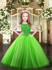 Discount Floor Length Ball Gowns Sleeveless Pageant Dress Toddler Zipper