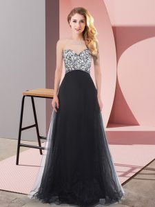 Designer Sweetheart Sleeveless Tulle Quinceanera Dama Dress Beading Lace Up