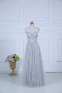Stunning Sleeveless Ruching Zipper Quinceanera Court of Honor Dress