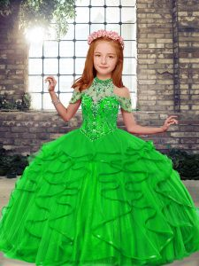 Fantastic Sleeveless Tulle Lace Up Child Pageant Dress for Party and Wedding Party