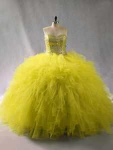 Ball Gowns Sweet 16 Quinceanera Dress Green Sweetheart Tulle Sleeveless Floor Length Lace Up