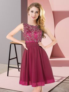 Stunning Purple Sleeveless Beading and Appliques Mini Length Court Dresses for Sweet 16